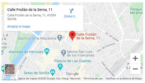 Google Maps Grupo Hábitat Sevilla UED